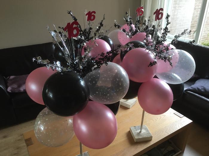 Feestje Sweet Sixteen met Ballonversiering