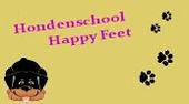 Logo Hondenschool Happy Feet